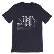 KDFW / DFW - Dallas-Ft. Worth - Unisex short sleeve t-shirt