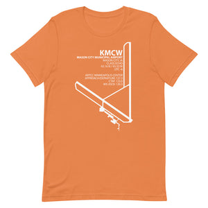 KMCW / MCW - Mason City Municipal - Unisex short sleeve t-shirt