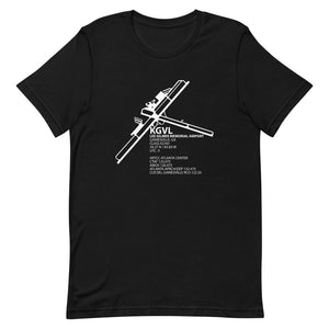KGVL / GVL - Lee Gilmer Memorial Airport - Unisex short sleeve t-shirt