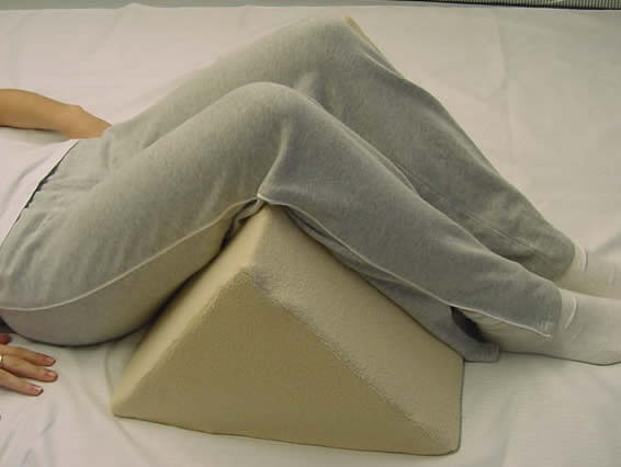 Custom Triangle Leg Support Wedge with Terry Cover