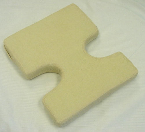 Body Foam Pillow Support B with Beige Terry Cloth Cover