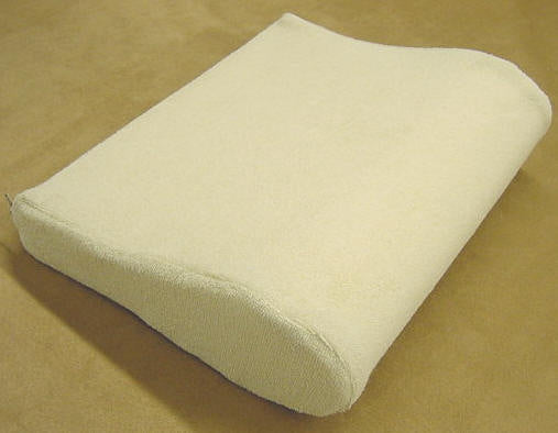 Contoured Foam Pillow for Neck Relief with Terry Cover
