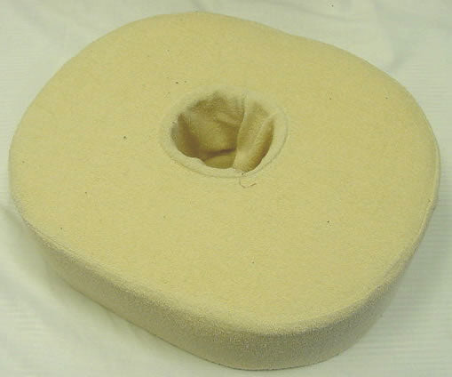 Oval Donut Seat Cushion with Beige Terry Cover