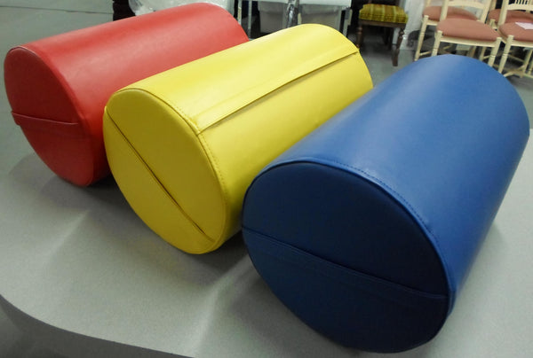Rebonded Round Foam Bolster with Custom Vinyl Cover
