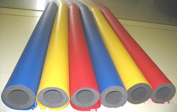 Round Charcoal Firm Foam Pole Bumpers with Vinyl Cover