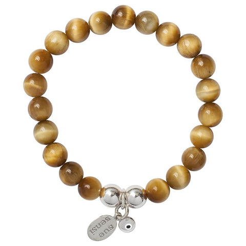 SUE SENSI TIGERS EYE BRACELET 4MM