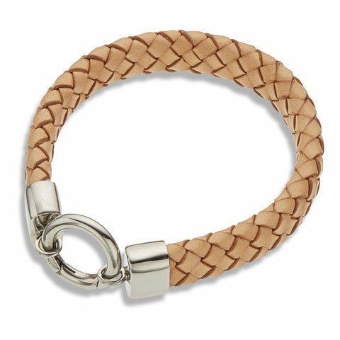 PALAS NATURAL LEATHER WIDE BRACELET