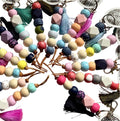 GREENWOOD DESIGNS KEYRING CLAY - MULTI COLOURED