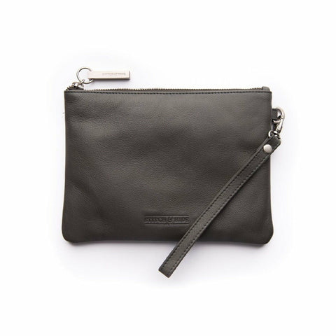 STITCH & HIDE CASSIE CHARCOAL CLUTCH