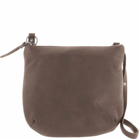 GABEE MEADOW TAUPE SOFT LEATHER CROSSBODY BAG