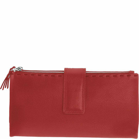 GABEE DANIKA RED COW BALI PURSE