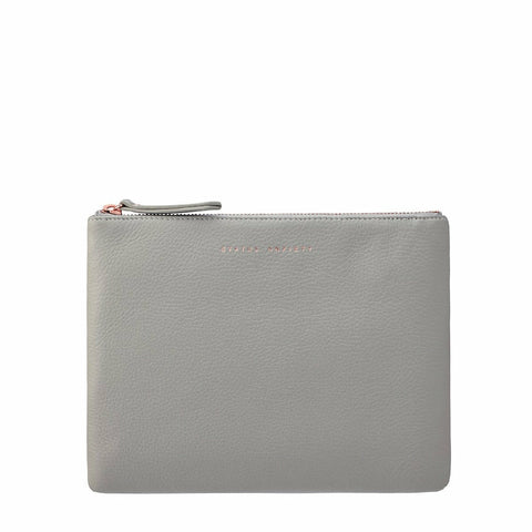 STATUS ANXIETY FAKE IT CLUTCH LIGHT GREY