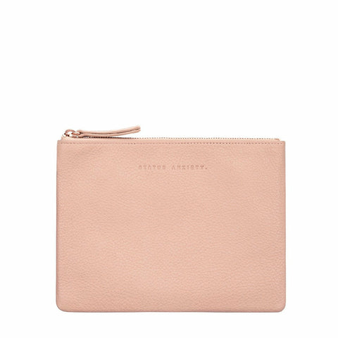STATUS ANXIETY FAKE IT CLUTCH DUSTY PINK