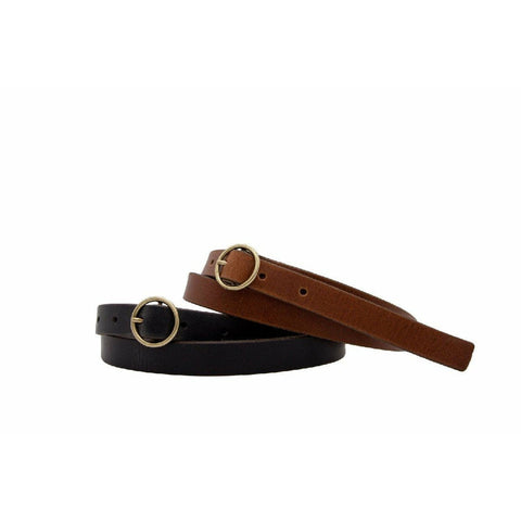 LOOP LEATHER MONROE RED CHESTNUT BELT