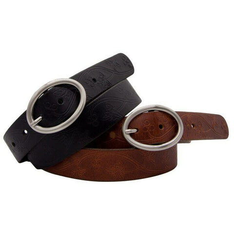 LOOP LEATHER FOX VALLEY MEDIUM TAN BELT