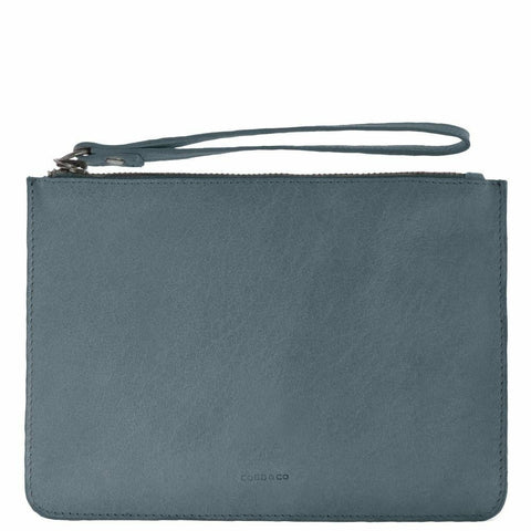 COBB & CO MOSSMAN LEATHER LARGE POUCH STEEL