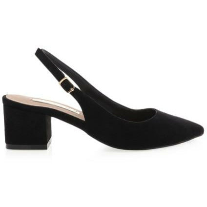 BILLINI BROOKE BLOCK HEEL BLACK SUEDE