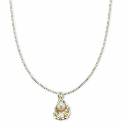 PALAS SILVER OYSTER PEARL NECKLACE
