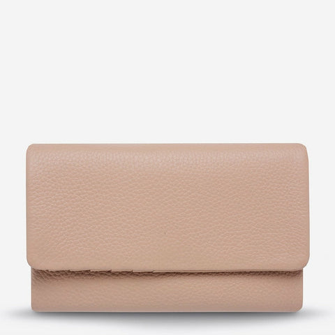 STATUS ANXIETY AUDREY WALLET PEBBLE DUSTY PINK