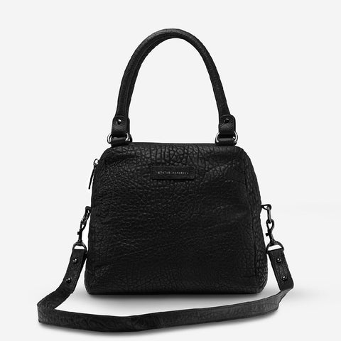 STATUS ANXIETY LAST MOUNTAINS BAG - BLACK BUBBLE LEATHER