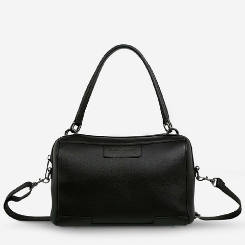 STATUS ANXTIETY DONT ASK BAG - BLACK LEATHER