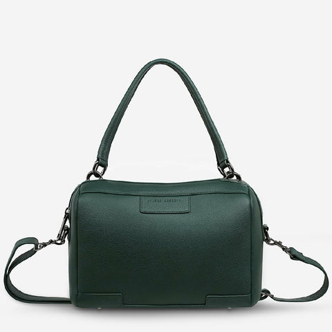 STATUS ANXIETY DONT ASK BAG - GREEN LEATHER