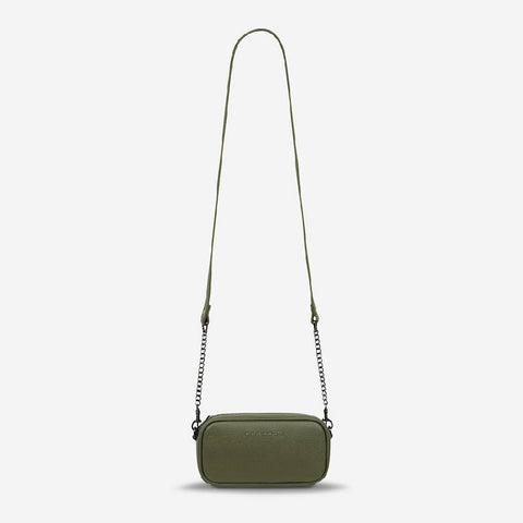 STATUS ANXIETY NEW NORMAL BAG - KHAKI LEATHER