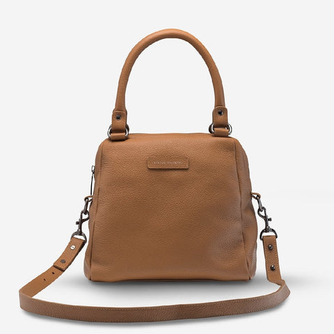 STATUS ANXIETY LAST MOUNTAINS BAG - TAN LEATHER