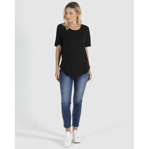 BETTY BASICS ARIANA TEE - BLACK