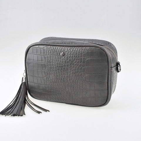 PETA AND JAIN GRACIE CROSSBODY BAG - GREY CROC