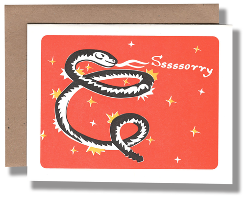 """Sssssssorry"" Greeting Card"