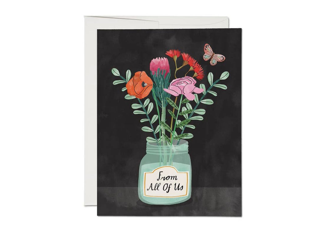 """Flowers From Us"" Greeting Card"