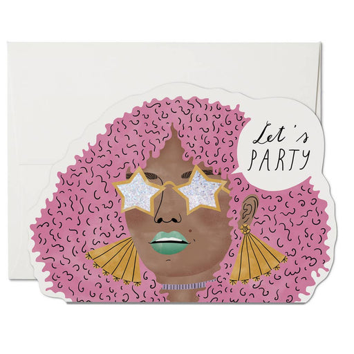"""Disco Glam"" Greeting Card"