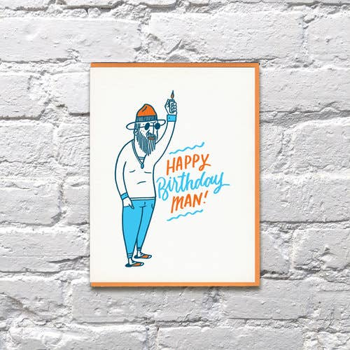 """Happy Birthday Man"" Greeting Card"