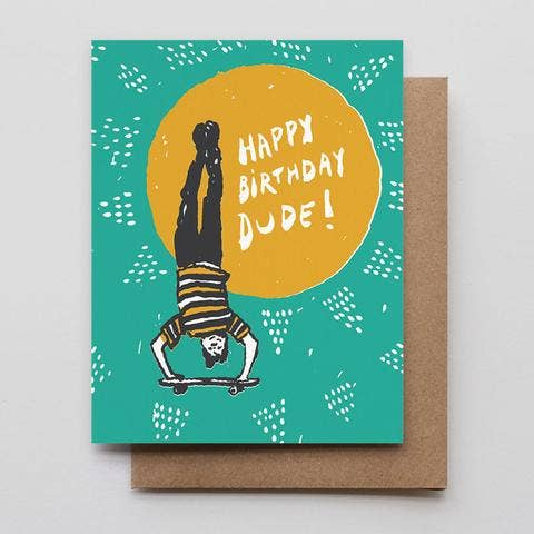 """Skater Dude"" Birthday Greeting Card"