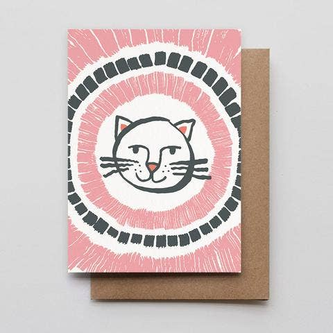 """Happy Cat"" Greeting Card"