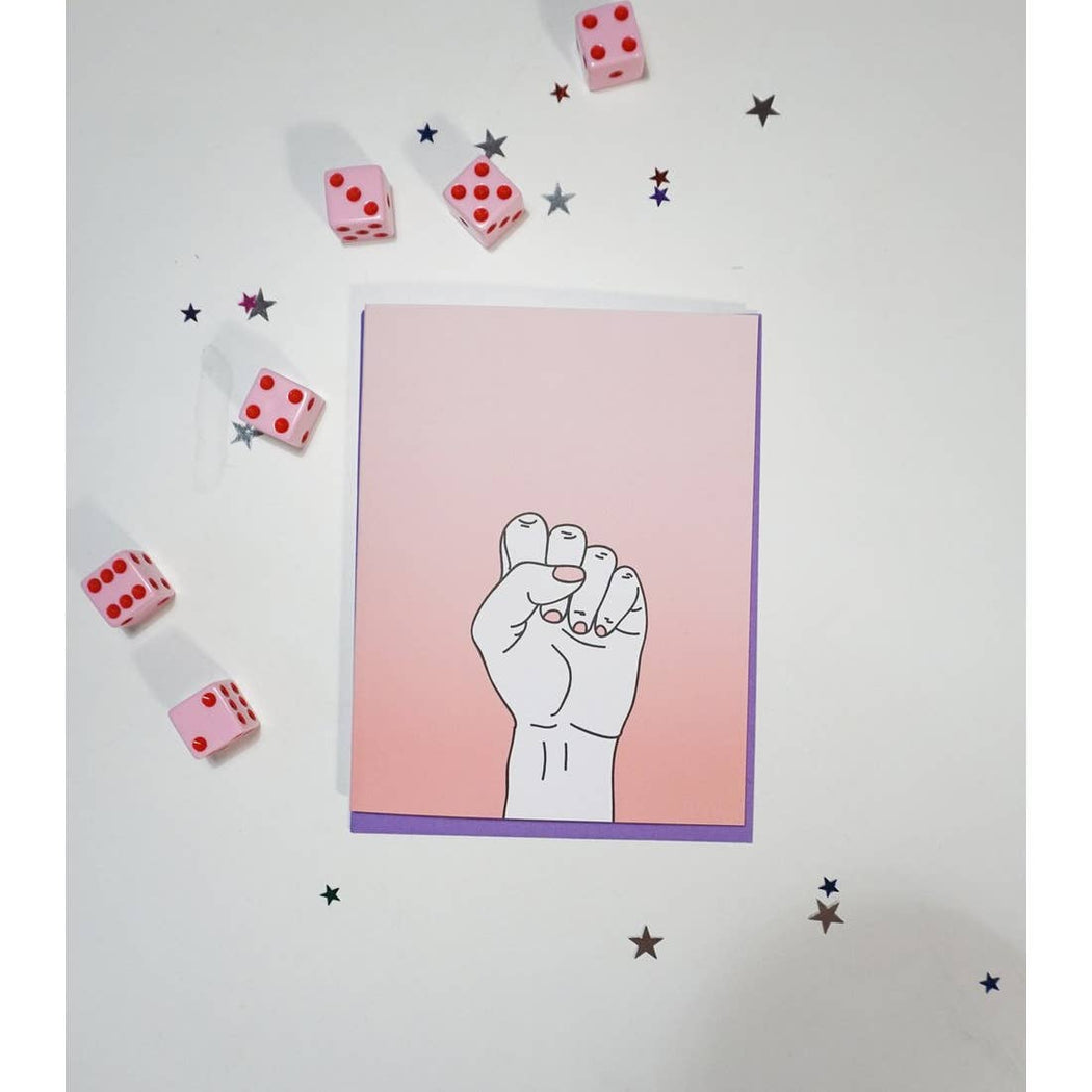"""Resist"" Greeting Card"