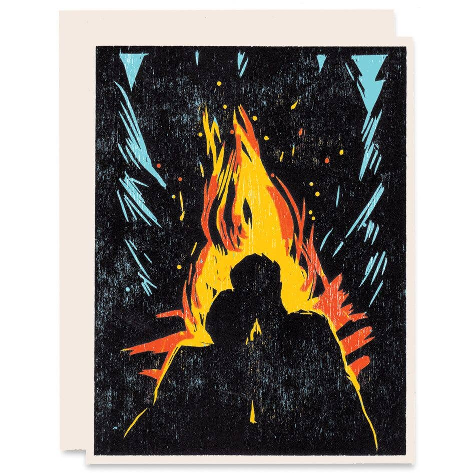 """Mine Burns For You Romance"" Greeting Card"