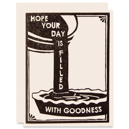 """Filled With Goodness"" Greeting Card"