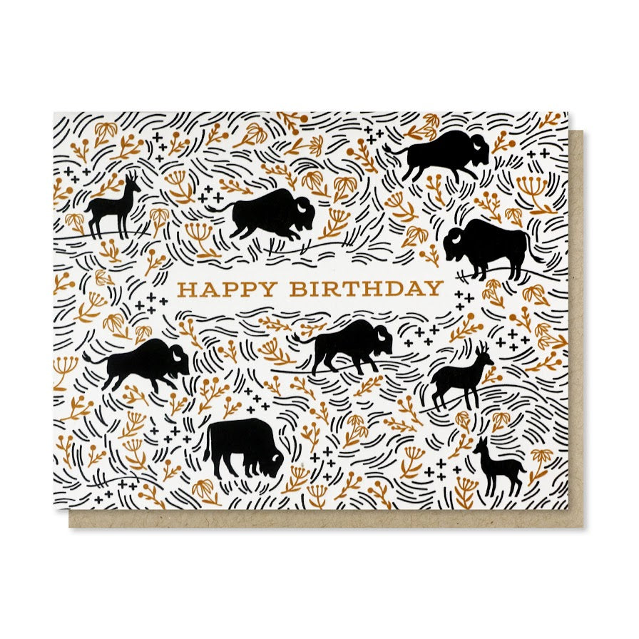 """Prairie Birthday"" Greeting Card"