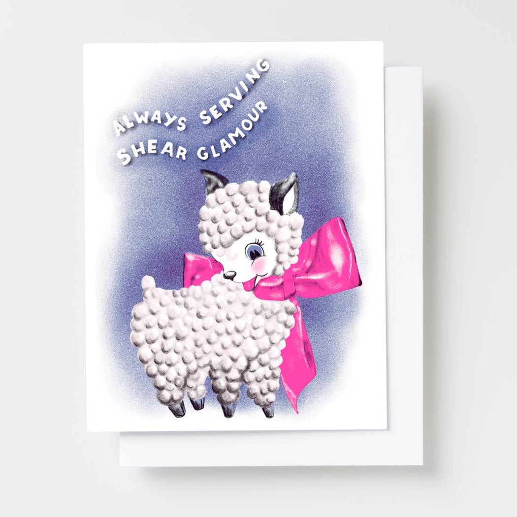 Always Serving Shear Glamour Risograph Greeting Card