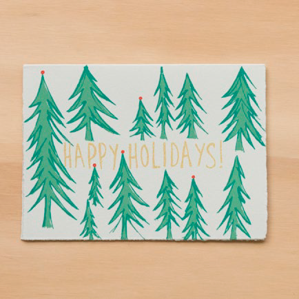 """Holiday Trees"" Greeting Card"