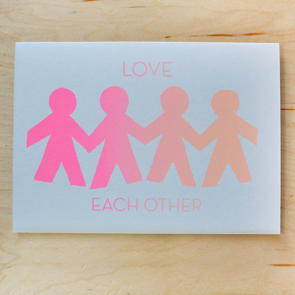 """Love Each Other"" Greeting Card"