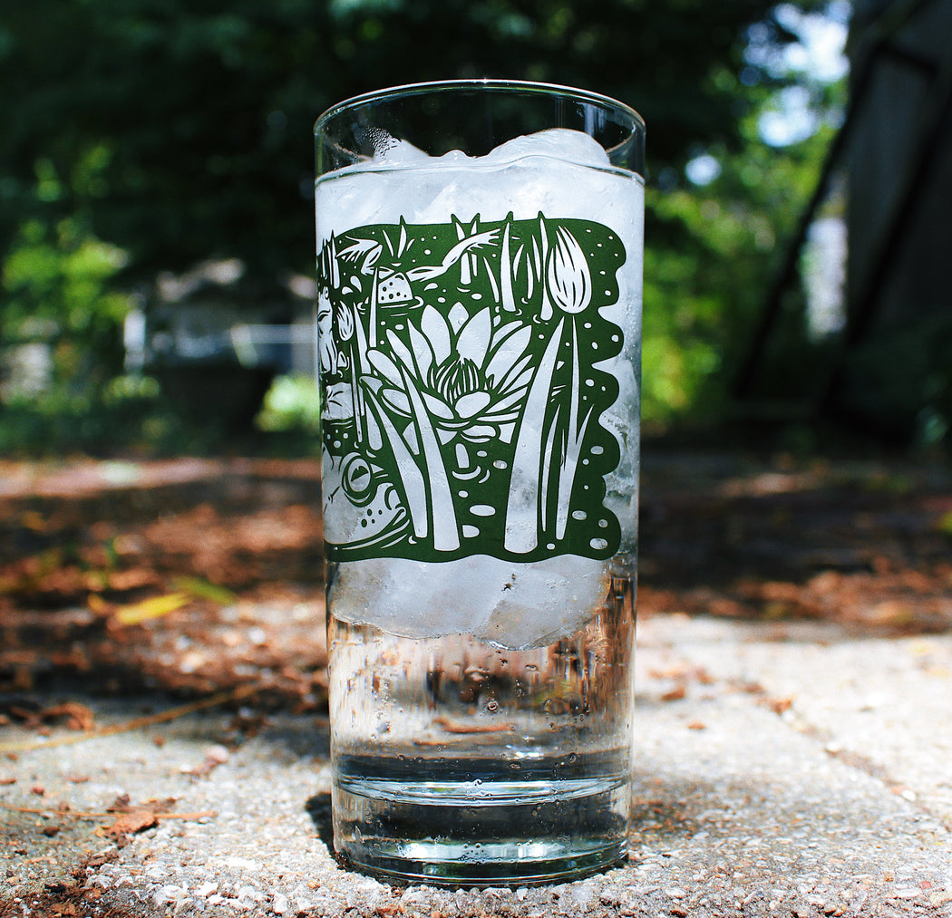 Bullfrog Pond Glass - 15oz Heavy Base