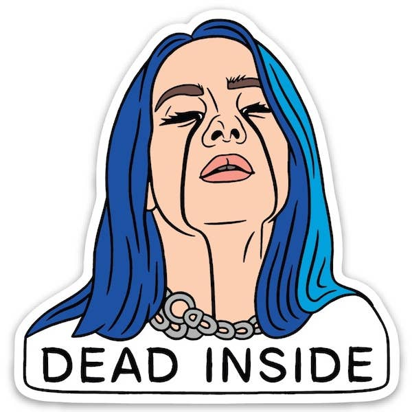 Billie Dead Inside Die Cut Sticker