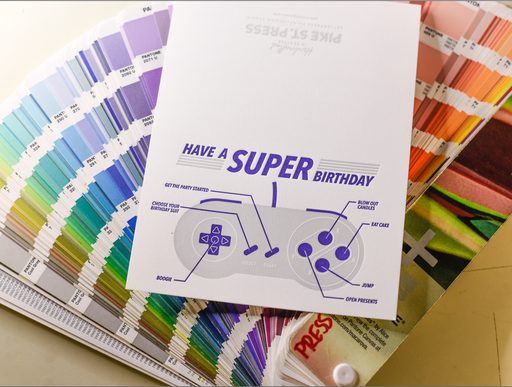 """Super Birthday"" Greeting Card"