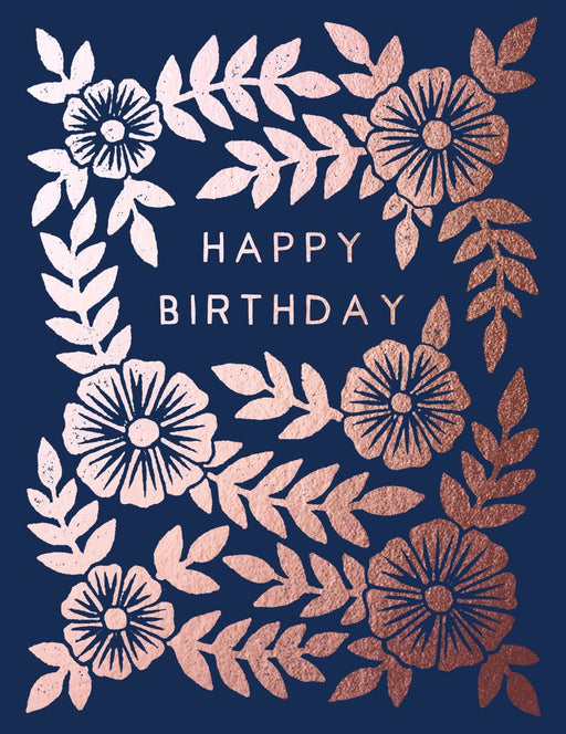 """Happy Birthday"" Foil Stamped Greeting Card"