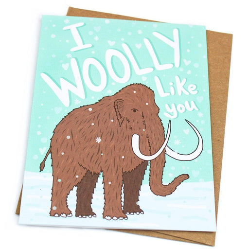 Turtle's Soup - I Woolly Like You Mammoth Card