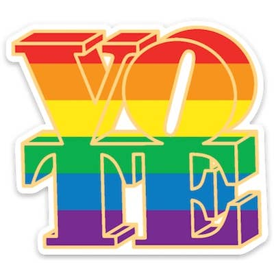 Vote - Rainbow Die Cut Sticker
