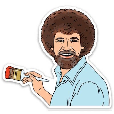 Bob Ross Die Cut Sticker